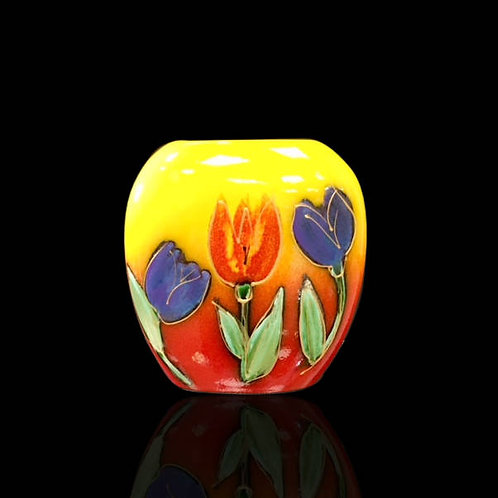 Tulips Purse Vase 12cm allow 21 days