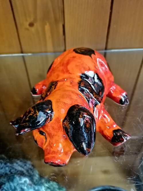 This little pig is made to order approx 7 ins is handpainted allow 21 days