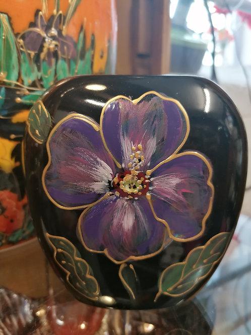 Painted to order 12cm handpainted lustre Hibiscus flower