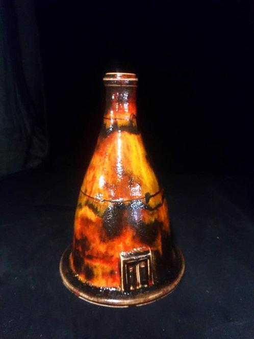 18cm handthrown bottle oven