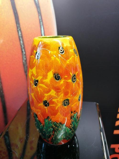 Vibrant floral trial 17cm vase stunning