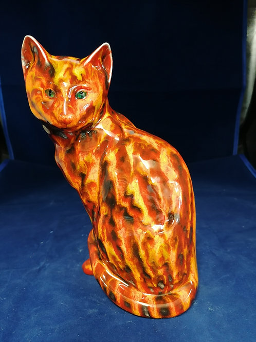 Sitting cat handpainted to order approx 8ins