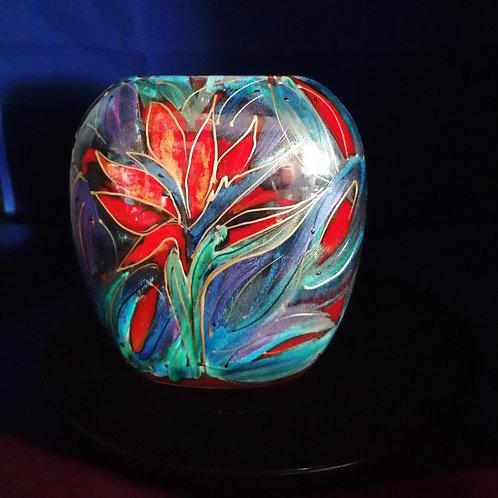 Nirvana handpainted 12cm vase please allow 21 days
