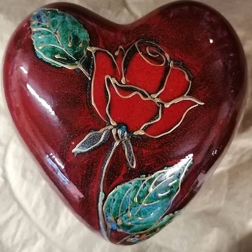 13cm heart trinket' Everlasting Rose ' perfect for Valentines or occasions