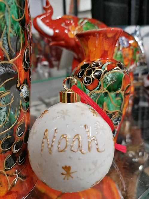 Christmas bauble with your child or grandchildren's name handpainted
