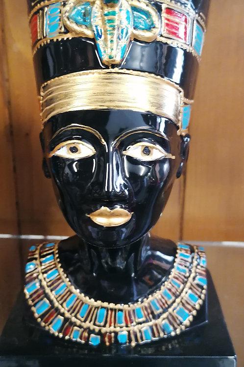 Nefertiti bust hours of hand painting detai