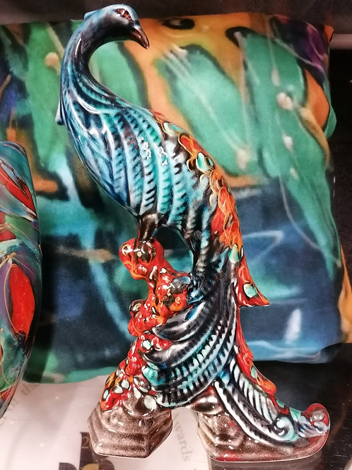 In stock stunning hand painted 28cm peacock figure