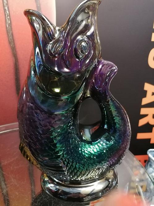 Stunning one off Wade Gluggle jug by Anita iridescent beauty