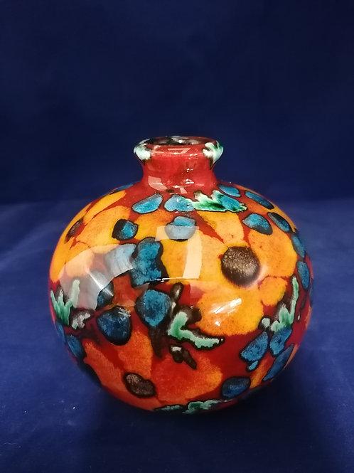 11.5cm vase 'floral medley' handpainted very pretty vase