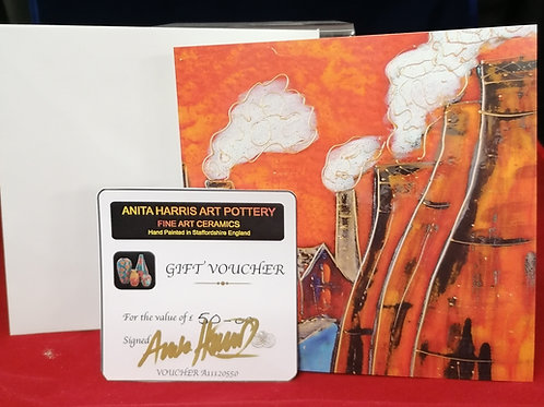 Gift Voucher for Anita Harris Pottery the perfect Christmas gift for collectors
