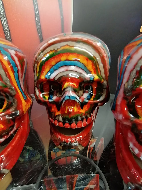 Made to order large handpainted skull each one unique stunning