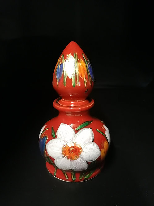 """Spring"" stunning new design handpainted  perfume bottle"