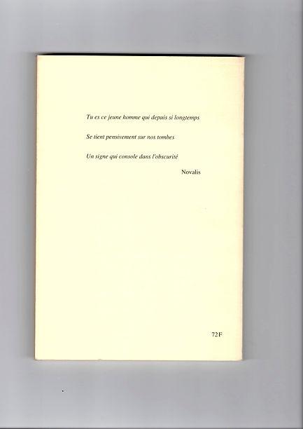 Quatrième de couverture du deuxième numéro de la revue Monologue