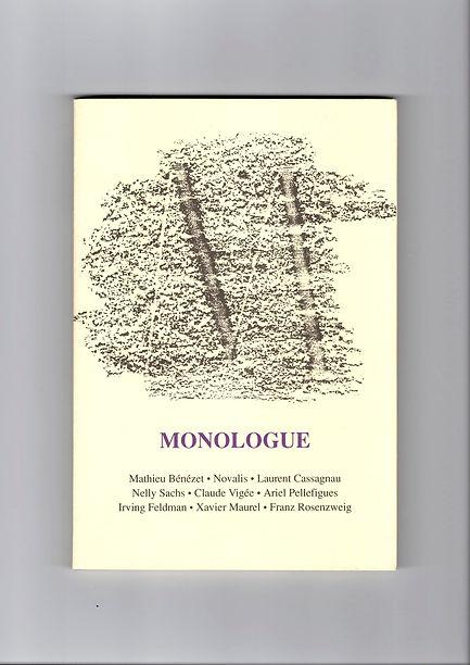 Couverture du premier numéro de la revue Monologue