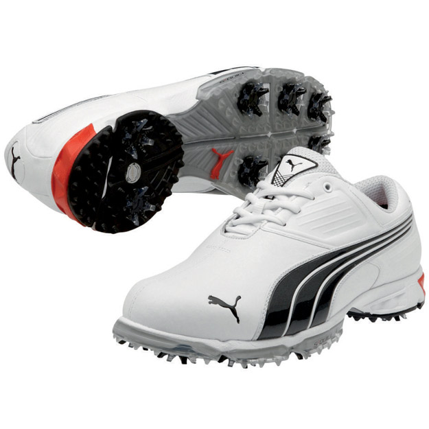 Puma-Spark-Sport-Golf-Shoes-White-Black-Fiery-Red