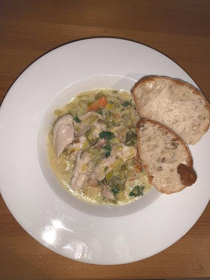 Creamy Chicken & Leek Stew