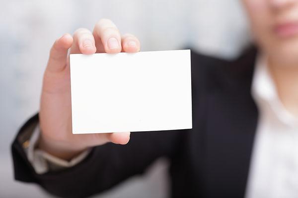 Businesswoman Closeup - presenting her b