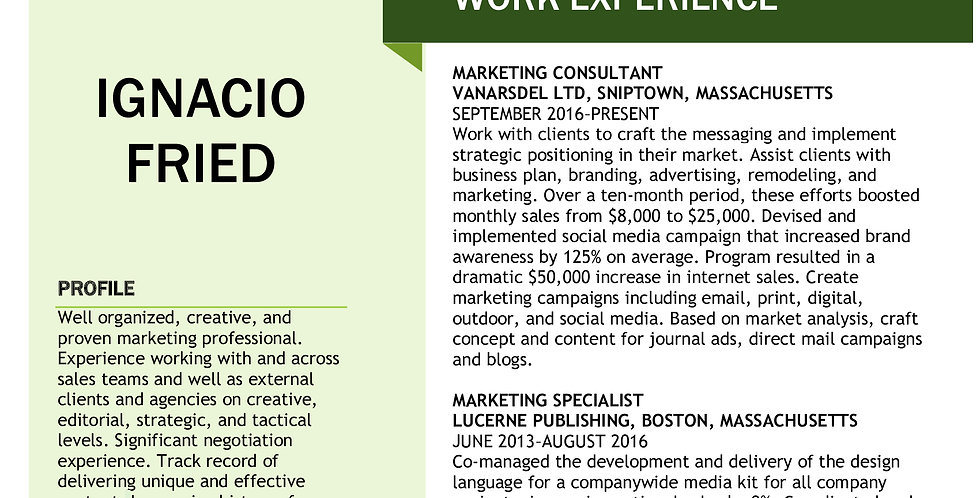 Marketing Resume/Portfolio