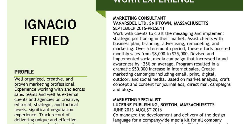Marketing Resume/Portfolio