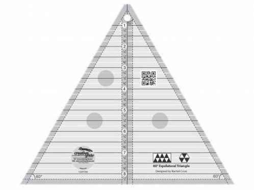 """60 degree triangle ruler 8 1/2"""" size"""
