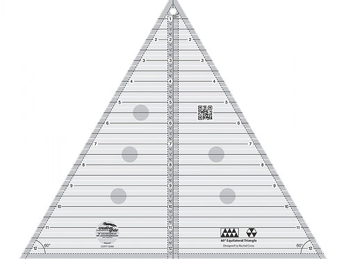 """60 degree triangle ruler 12 1/2"""" size"""