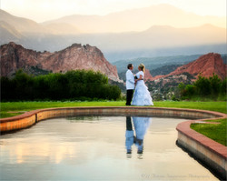Garden of the Gods Country Club Refelction Pond Wedding