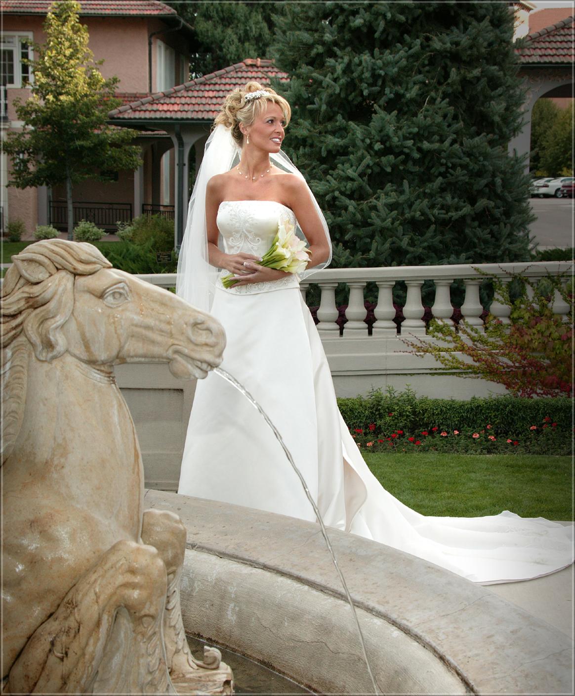 Broadmoor Hotel Fountain Bride