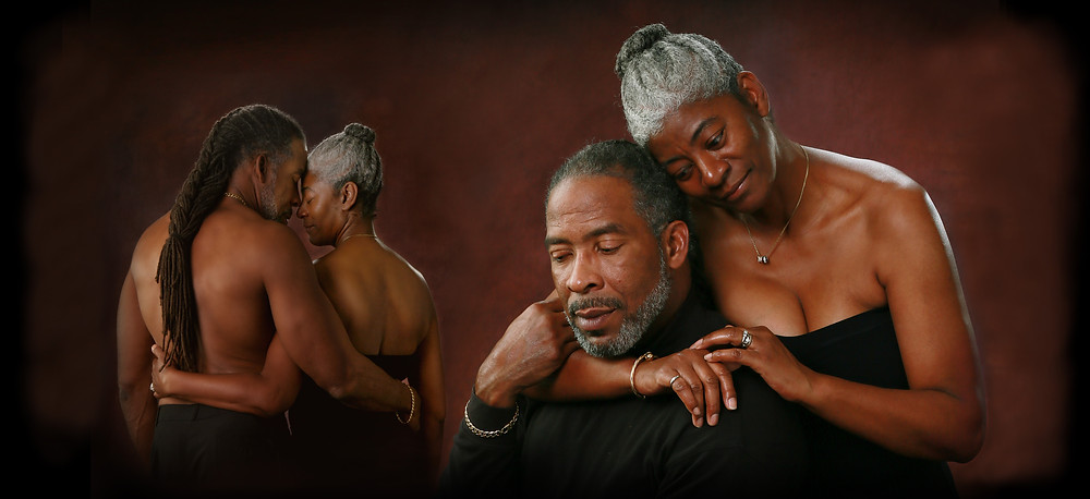 A recent contemporary artistic couple's portrait