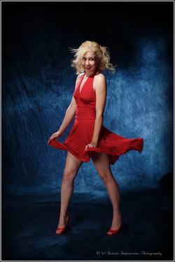 Imitating Marilyn Monroe