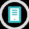 Circle icon of a server