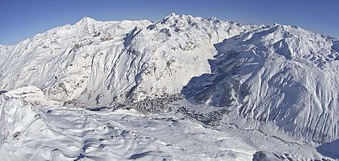 Skier à Val-d'Isère - France