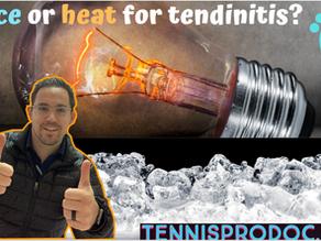 Ice or heat for tendinitis?