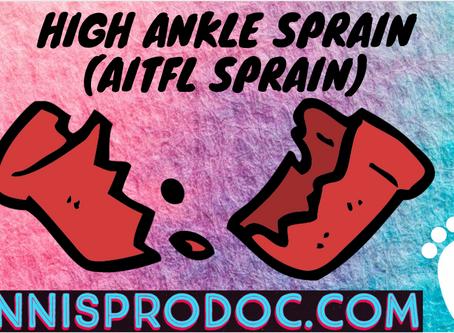 High Ankle Sprain (AITFL sprain)