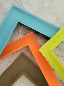 Our translucent Lucite frame collection.
