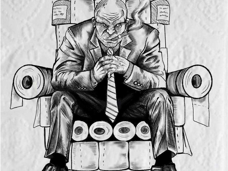 Toilet paper king