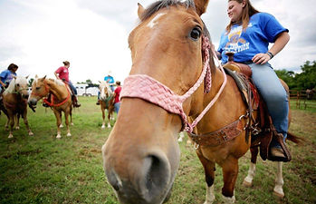 If you understand the horses needs, you will have a friend for life. Kids Only Horsemanship Clinics-3L Horsemanship Clinics-Larry French/Arkansas