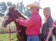 Arkansas horsemanship coach teaching how to properly put your halter on. 3L horsemanship