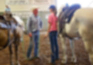 Always ready to listen to my students. 3L Horsemanship/101 Coaching/Larry French/Natural Horsemanship