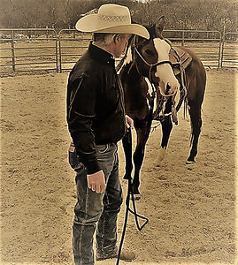 We must have confidence . Build your faith in your self and the confidence ill come. 3L Horsemanship Clinics Larry French/Moro,Arkansas