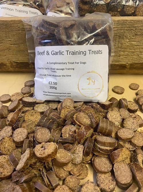 Beef and Garlic Sausage Training Treat