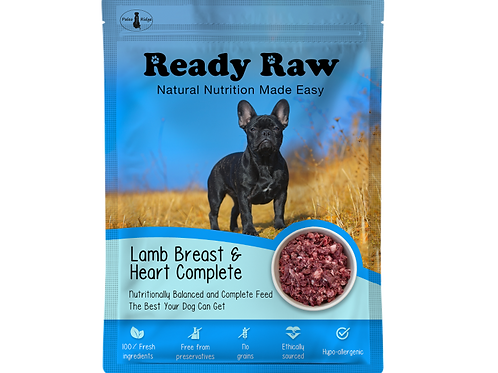 Ready Raw Lamb Breast and Heart Complete 150g