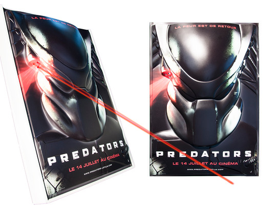 Relief Poster with LED_PREDATORS