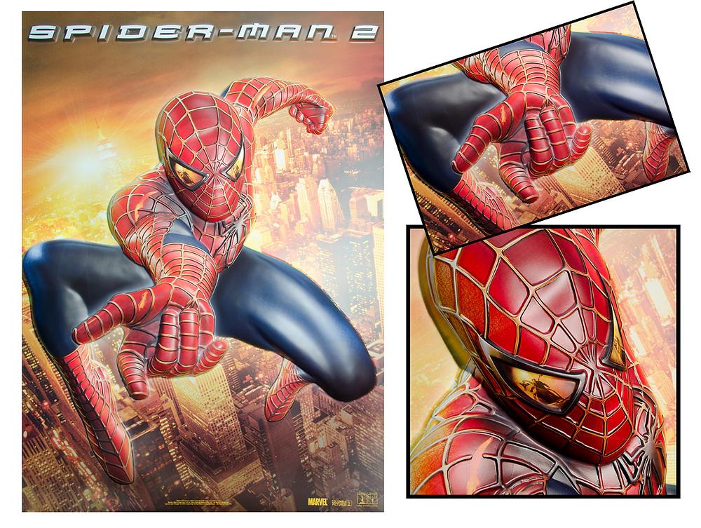Kinoplakat Kinoposter 3D-Poster 3D-Plakat Spiderman Kino Reliefplakat Reliefposter 3D-Effekt