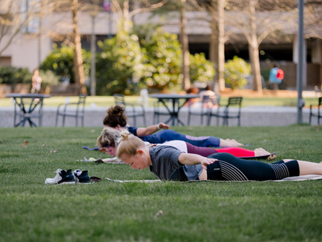 Fall into perfect posture with pilates in the park!