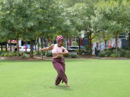 Tabia McKinzie from Dance Project Inc., Afro-Contemporary on Center City's Oval Lawn