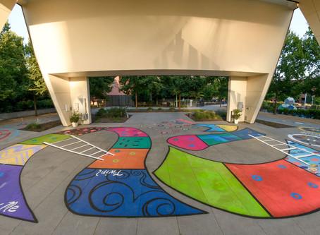 Recap Video: Collaborative Mural in LeBauer Park