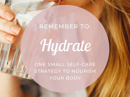 Remember to Hydrate: Advice From Cheri Timmons