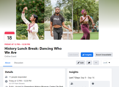 History Lunch Break: Dancing Who We Are - A Zoom Discussion