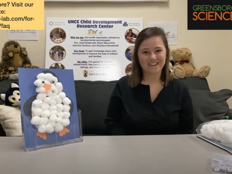 Crafts And Conversation: Cotton Ball Penguin With The DUCK Lab