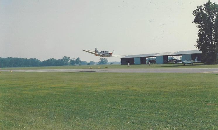 A Meyers 200 in flight